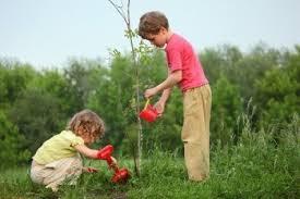 children & tree
